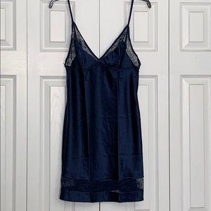 Victoria's Secret dark/blue night slip dress sz M